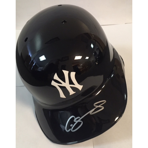Photo of Gary Sanchez Autographed Yankees Batting Helmet