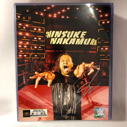 Shinsuke Nakamura SIGNED WrestleMania 35 Superstore Exclusive Photo (Random Number)