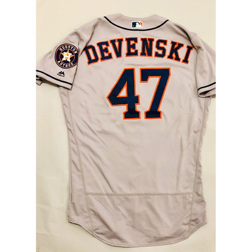 Photo of 2019 Mexico Series - Game-Used Jersey - Chris Devenski, Houston Astros at Los Angeles Angels - 5/4/19