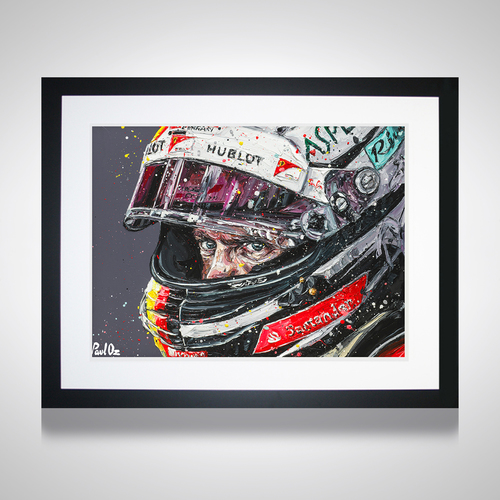 Photo of Sebastian Vettel Paul Oz Framed Print