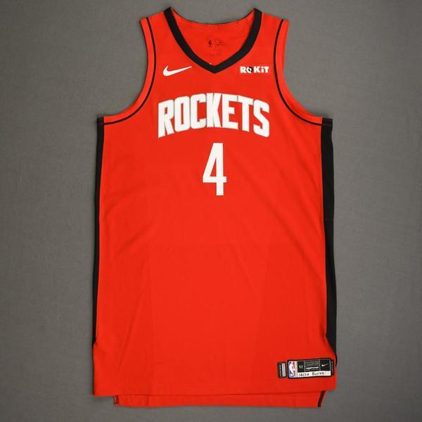 Image of Danuel House Jr. - Houston Rockets - Kia NBA Tip-Off 2019 - Game-Worn Icon Edition Jersey