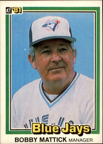 Photo of 1981 Donruss #570 Bobby Mattick MG RC