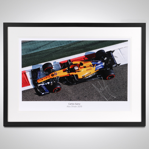 Photo of Carlos Sainz 2019 Abu Dhabi Signed Photo Print