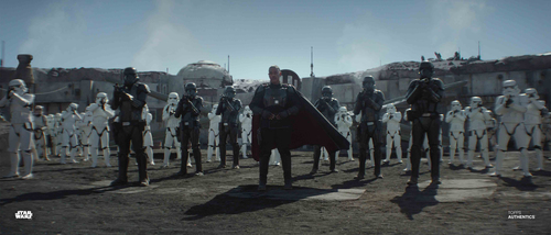 Moff Gideon and Stormtroopers