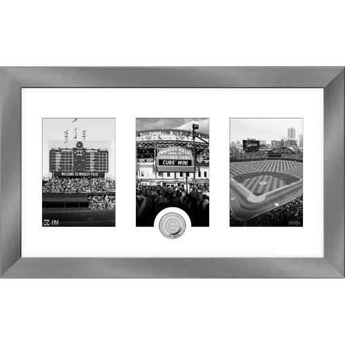Photo of Chicago Cubs Art Deco Silver Coin Photo Mint