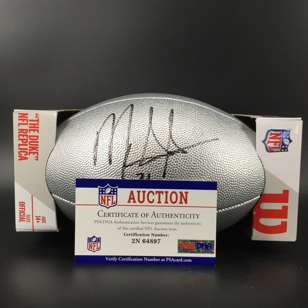 Ravens Mark Ingram Jr. Signed Silver 100 Seasons Commemorative Football - The money raised in this auction will be donated to the Black College Football Hall of Fame