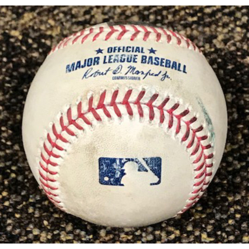 Photo of 8/1/20 Game-Used Baseball: Julio Urias vs. Eduardo Escobar (Fly Out to Mookie Betts) and Christian Walker (Doubled to Joc Pederson)