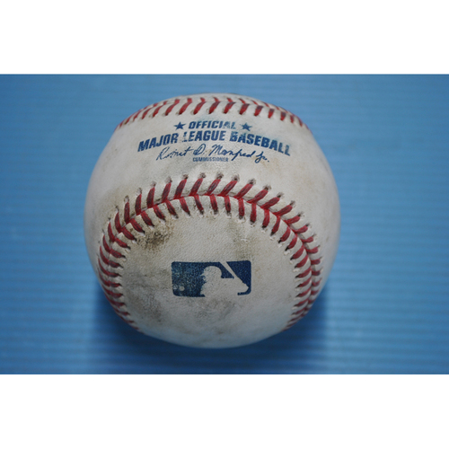 Photo of Game-Used Baseball - 2020 NLDS - San Diego Padres vs. Los Angeles Dodgers - Game 1 - Pitcher - Walker Buehler, Batters - Tommy Pham (Walk), Wil Myers (Strikeout Swinging) - Top 2