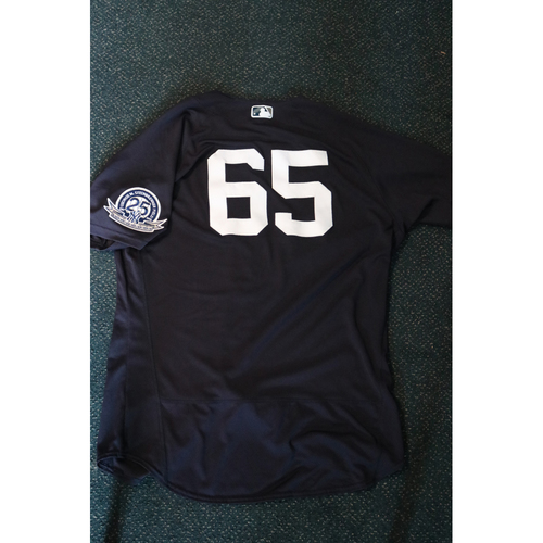Photo of Team-Issued Spring Training Jersey - James Paxton - #65 - Jersey Size - 48
