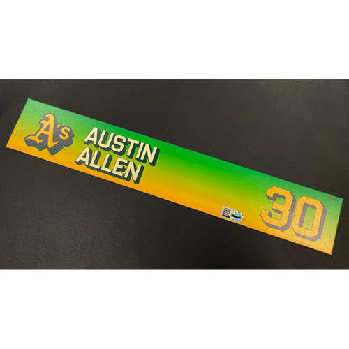 Photo of Team Issued 2020 Locker Nameplate - Austin Allen