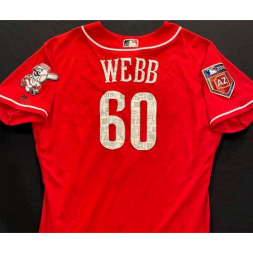Photo of WEBB-60 -- Authentic Reds Jersey -- $1 Jersey Auction -- $5 Shipping -- Size 48 (Not MLB Authenticated)