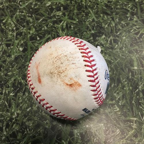 Photo of Game-Used Baseball CIN@MIL 06/15/21 - Brett Anderson - Jonathan India: Strikeout