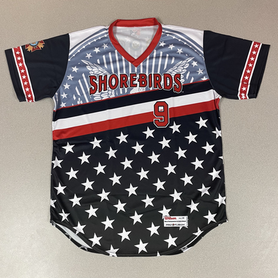 Patriotic Game Worn Autographed Jersey #9 Size 46 Daniel Lloyd