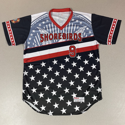 Photo of Patriotic Game Worn Autographed Jersey #9 Size 46 Daniel Lloyd