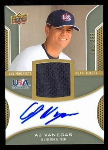 Photo of 2009 Upper Deck Signature Stars USA Star Prospects Jersey Autographs #AV AJ Vanegas