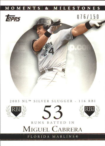 Photo of 2007 Topps Moments and Milestones #110-53 Miguel Cabrera/RBI 53