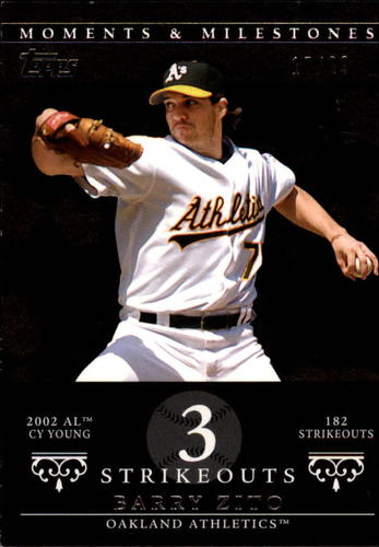 Photo of 2007 Topps Moments and Milestones Black #49-3 Barry Zito/SO 3