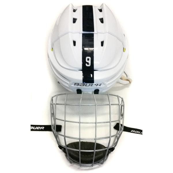 Photo of Penn State Game Used Men's Ice Hockey Helmet (White #9)