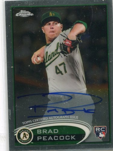 Photo of 2012 Topps Chrome Rookie Autographs #163 Brad Peacock