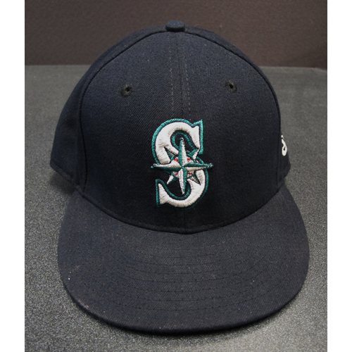 Photo of Nelson Cruz Team-Issued Navy Cap 2017. Cap Size - 7 3-8