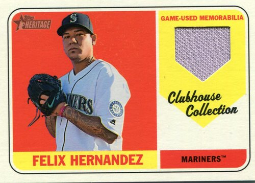 Photo of 2018 Topps Heritage Clubhouse Collection Relics #CCRFH Felix Hernandez