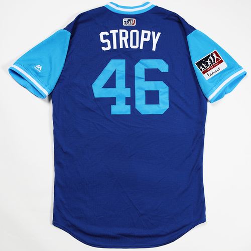"Photo of Pedro ""Stropy"" Strop Chicago Cubs Game-Used 2018 Players' Weekend Jersey"