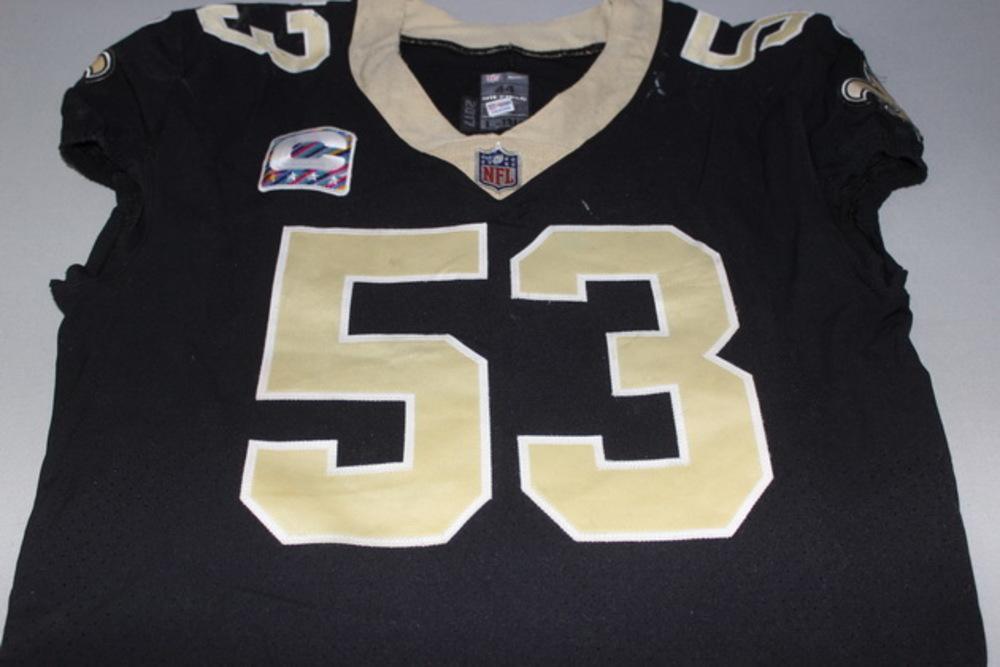 NFL Auction | Crucial Catch - Saints A.J. Klein game worn Saints ...
