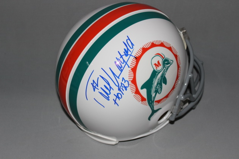HOF - DOLPHINS PAUL WARFIELD SIGNED DOLPHINS PROLINE HELMET