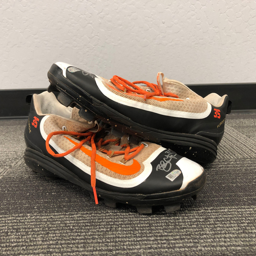 Photo of 2016 Player Collected & Autographed Cleats (PAIR) - #35 Brandon Crawford - Size 12
