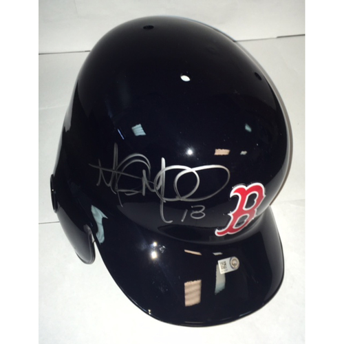 Photo of Mitch Moreland Autographed Red Sox Batting Helmet