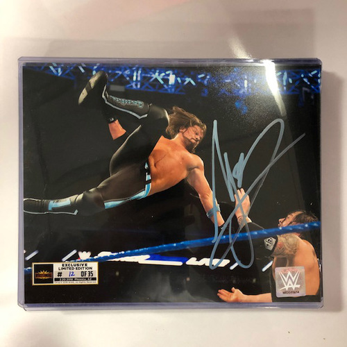 Photo of AJ Styles SIGNED WrestleMania 35 Superstore Exclusive Photo (Random Number)