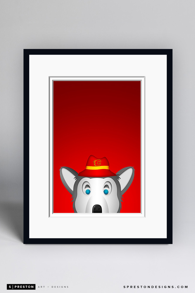 Harvey the Hound - Framed Limited Edition Minimalist NHL Mascot Art Print (6/350) by S. Preston