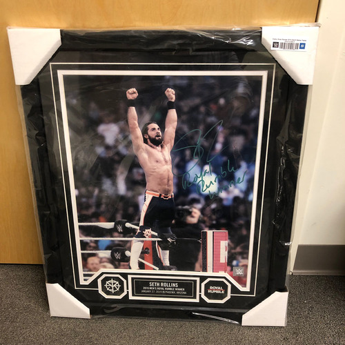 Photo of Seth Rollins Autographed 20x24 Framed Photo Plaque