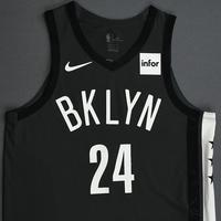 Rondae Hollis-Jefferson - Brooklyn Nets - 2018-19 Season - Game-Issued Gray Statement Edition Jersey