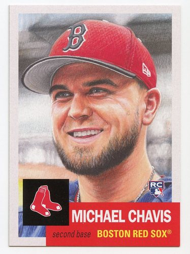 Photo of 2019 Topps Living #203 Michael Chavis Rookie Card
