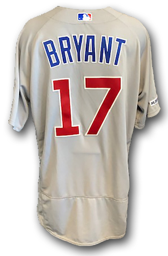 Photo of 12 Days of Auctions: Day 10 -- Kris Bryant Team-Issued Jersey -- 2019 Season -- Size 46