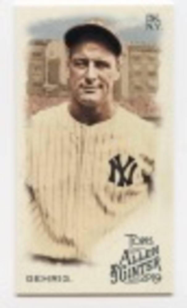 2019 Topps Allen and Ginter Mini #4 Lou Gehrig