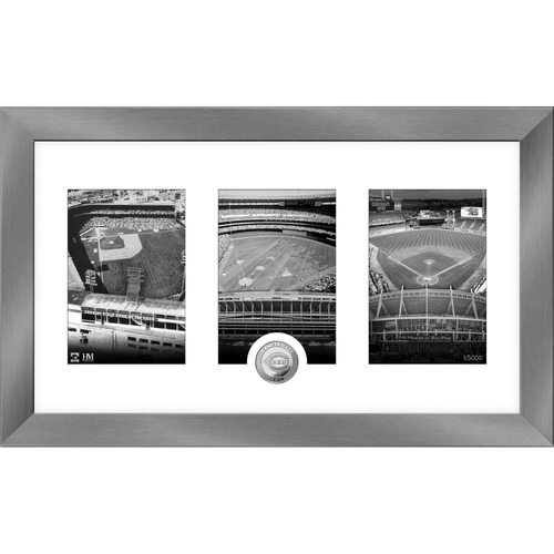 Photo of Cincinnati Reds Stadium Art Deco Silver Coin Photo Mint