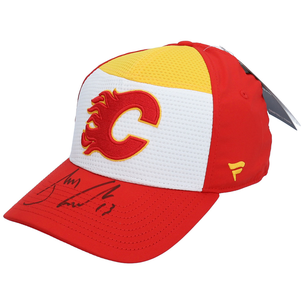 Johnny Gaudreau Calgary Flames Autographed Alternate Jersey Logo Cap - NHL Auctions Exclusive