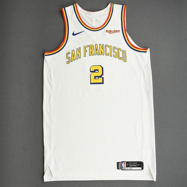 Image of Willie Cauley-Stein - Golden State Warriors - Game-Worn Classic Edition - 1962-63 San Francisco Home Jersey - 2019-20 NBA Season