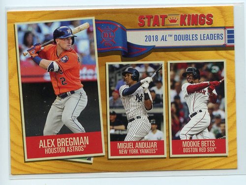 Photo of 2019 Topps Big League Gold #351 Mookie Betts/Alex Bregman/Miguel Andujar