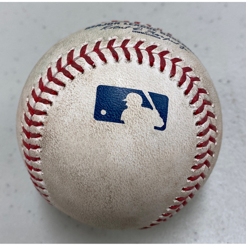 Photo of 2018 Game Used Baseball used on 8/25 vs. TEX - B-8: Chris Martin to Austin Slater - Single to RF