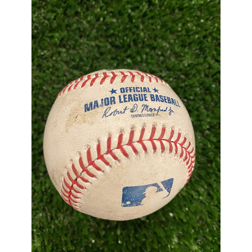 Photo of Ronald Acuna Jr. Game Used Home Run Baseball - Longest Career Home Run at 473 feet - 2nd Longest at Truist Park - 8/26/20 vs. NYY off Gerrit Cole (Bot 1)