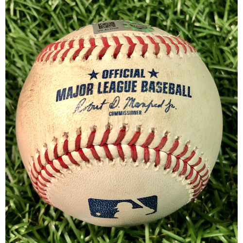 Photo of Game Used Baseball: Jose Martinez HOME RUN (1) off Grant Dayton - First Home Run as a Ray - July 27, 2020 v ATL