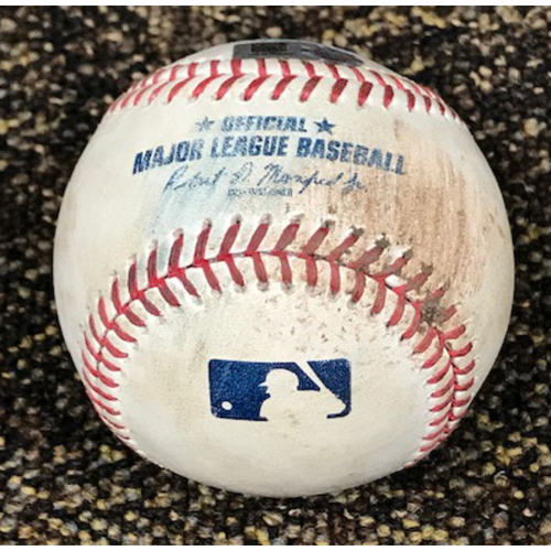 8/5/20 Game-Used Baseball: Robbie Ray vs. Jose Altuve (Fly Out) and Alex Bregman (Ball)