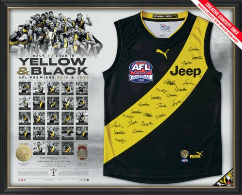 Photo of Richmond 2020 Premiers Team Signed Guernsey - Edition Number 20