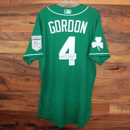 Photo of Autographed St. Patricks Day Jersey: Alex Gordon (Size 46)