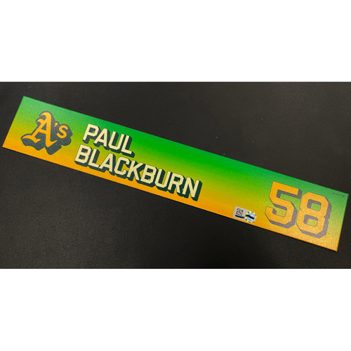 Photo of Team Issued 2020 Locker Nameplate - Paul Blackburn