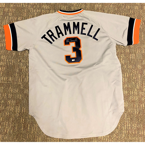 Photo of Alan Trammell Detroit Tigers Autographed Away Jersey (MLB AUTHENTICATED)