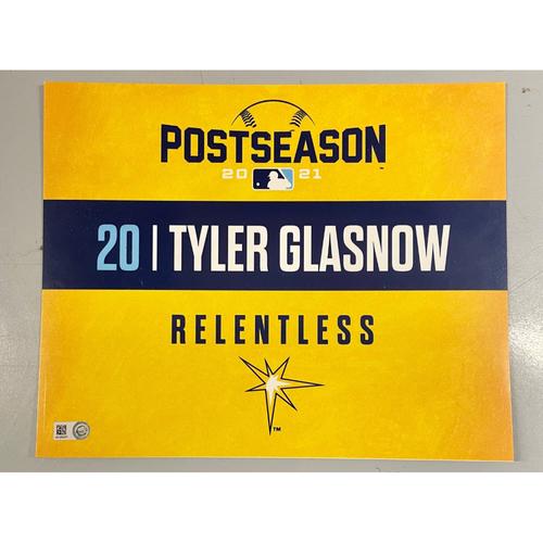 Photo of Team Issued ALDS Locker Tag: Tyler Glasnow - Game 1 - October 7, 2021 v BOS